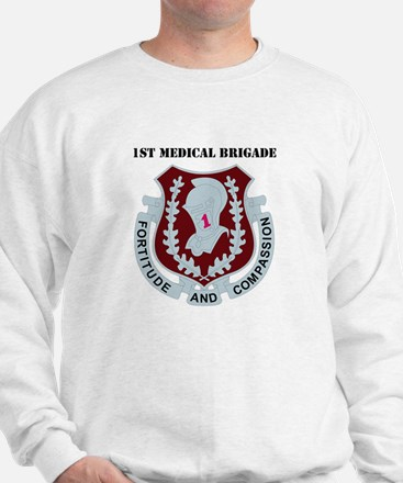 DUI - 1st Medical Bde with Text Sweatshirt