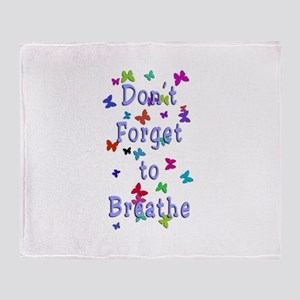 Breathe! Throw Blanket
