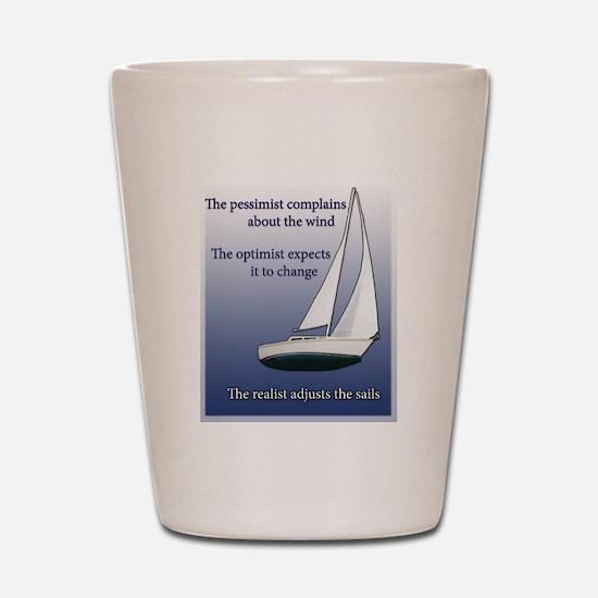 Adjust the sails Shot Glass