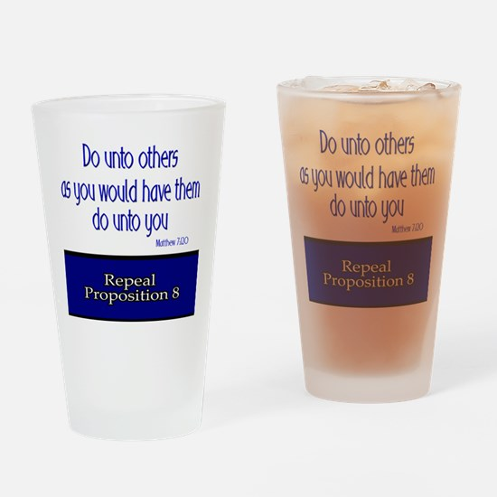 Repeal Prop 8 Drinking Glass