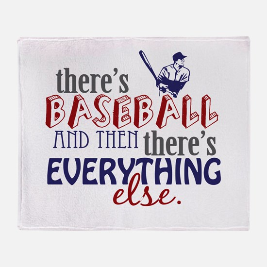 Baseball is Everything Throw Blanket