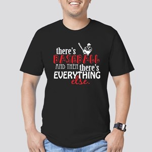 Baseball is Everything Men's Fitted T-Shirt (dark)