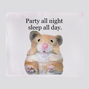 Party All Night Throw Blanket