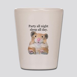 Party All Night Shot Glass