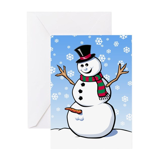 snowman christmas card snowman greeting card by giftcy 2960