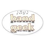 Band Geek Sticker (Oval)