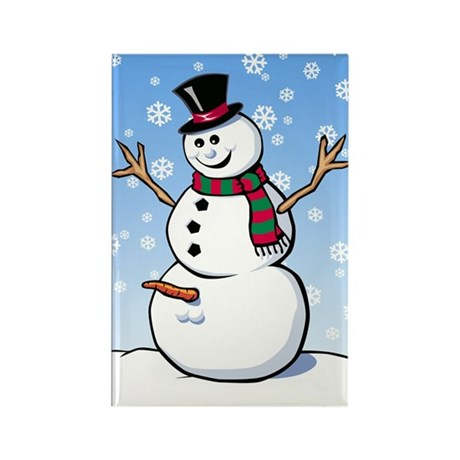 Naughty Snowman Rectangle Magnet
