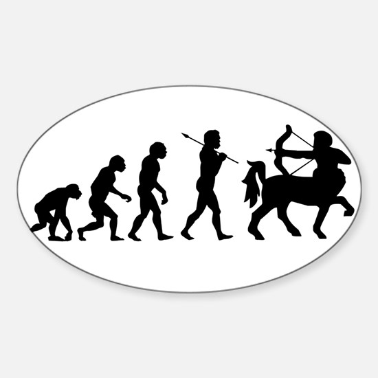 Centaur Archer Evolution Sticker (Oval)