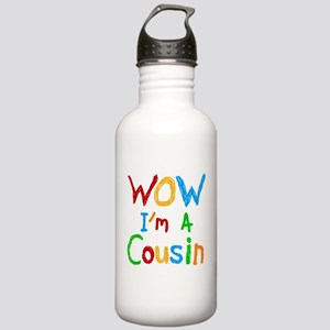 WOW I'm a Cousin Stainless Water Bottle 1.0L