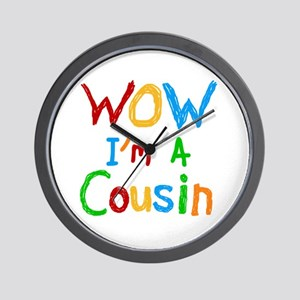 WOW I'm a Cousin Wall Clock