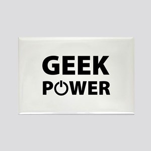 Geek Power Rectangle Magnet