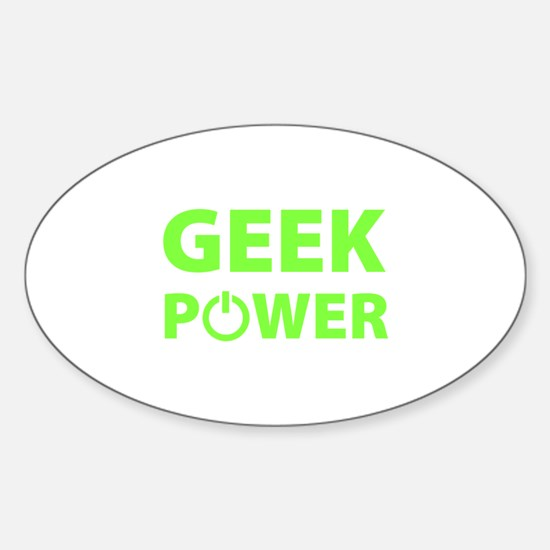Geek Power Sticker (Oval)