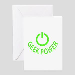 Geek Power Greeting Card