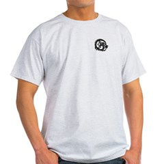 Black Tribal Dragon Ash Grey T-Shirt