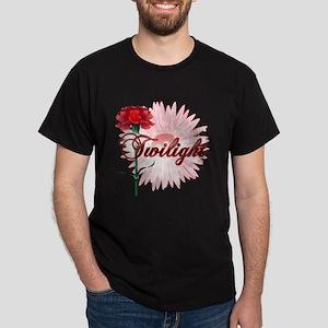 Twilight Flowers by Twidaddy.com Dark T-Shirt