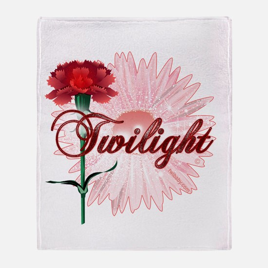Twilight Flowers by Twidaddy.com Throw Blanket