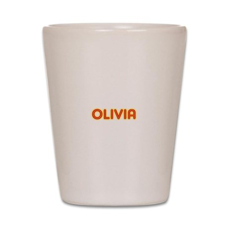 Olivia in Movie Lights Shot Glass