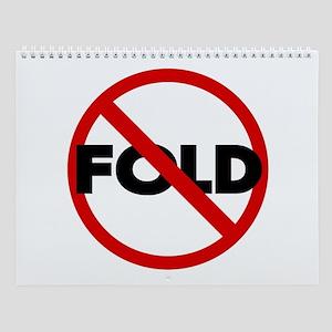 No Fold'em Hold'em Christmas Wall Calendar