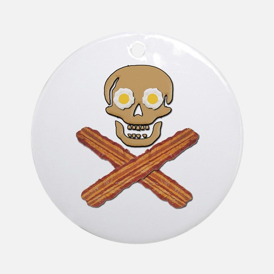 Food Pirate Bacon Eggs Ornament (Round)