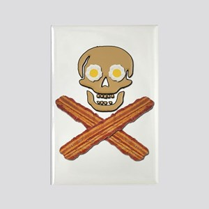 Food Pirate Bacon Eggs Rectangle Magnet