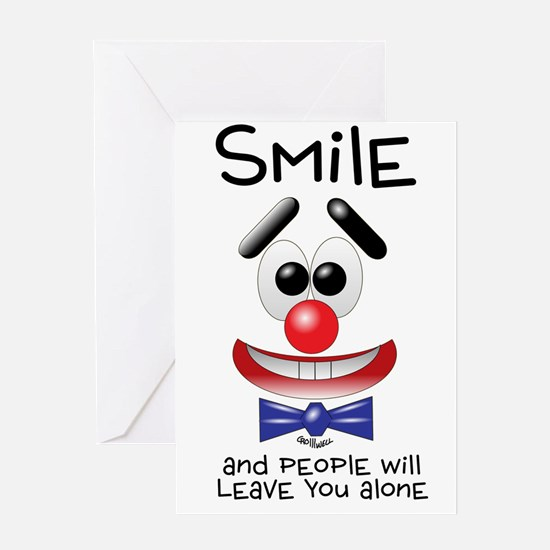 Smile Alone Greeting Card