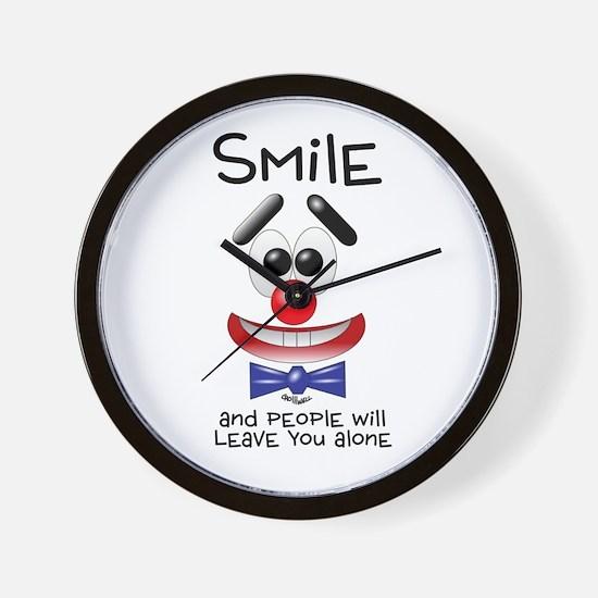 Smile Alone Wall Clock