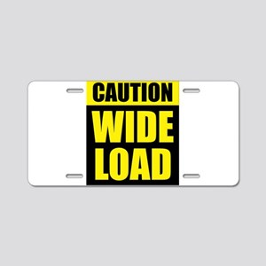 Wide Load (Fat) Aluminum License Plate