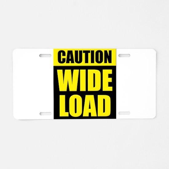 Wide Load (Fat) Aluminum License Plate
