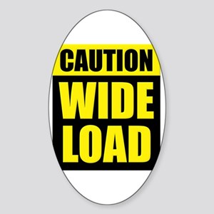 Wide Load (Fat) Sticker (Oval)