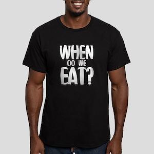 When Do We Eat? Men's Fitted T-Shirt (dark)