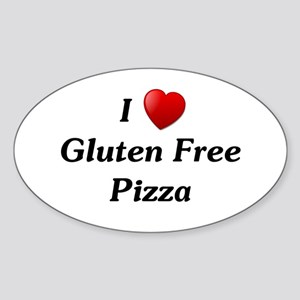 I Love Gluten Free Pizza Sticker (Oval)