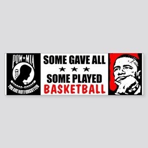 """Some Played Basketball: Obama"" Sticker"