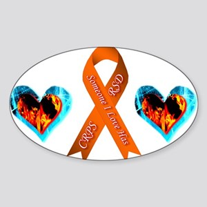 Someone I Love Has CRPS Heart Sticker (Oval)