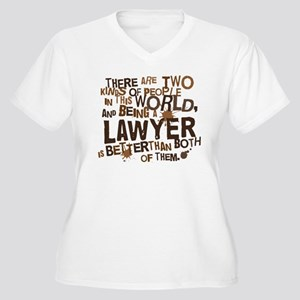 Lawyer (Funny) Gift Women's Plus Size V-Neck T-Shi