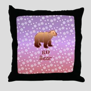 Cherokee Bear Christmas Throw Pillow