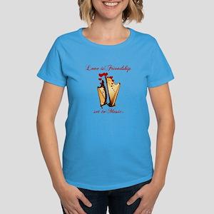 Love/Music Women's Dark T-Shirt