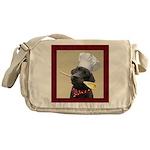 Black Labrador Chef Messenger Bag
