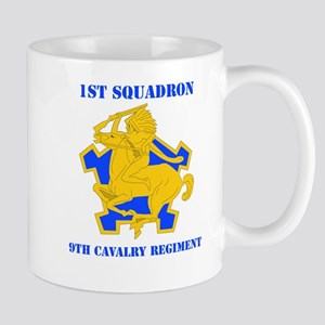 DUI - 1st Sqdrn - 9th Cavalry Regt with Text Mug