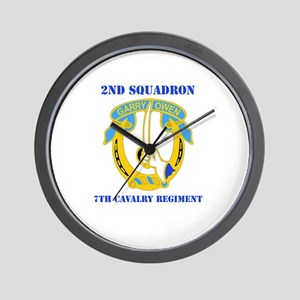 DUI - 2nd Sqdrn - 7th Cavalry Regt with Text Wall