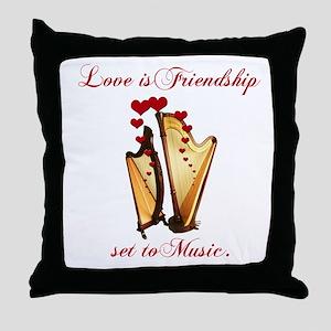 Love/Music Throw Pillow