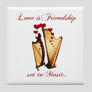 Love/Music Tile Coaster