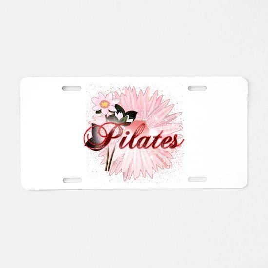 Pink PIlates Flowers by Svelte.biz Aluminum Licens