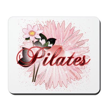Pink PIlates Flowers by Svelte.biz Mousepad