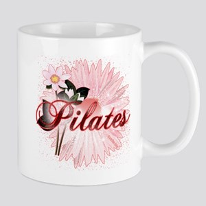 Pink PIlates Flowers by Svelte.biz Mug