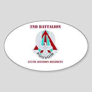 DUI - 2nd Bn - 227th Aviation Regt Sticker (Oval)