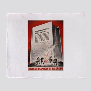 """Books cannot be killed by fi Throw Blanket"
