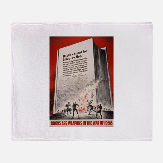 """""""Books cannot be killed by fi Throw Blanket"""