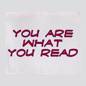 You are what you read Throw Blanket