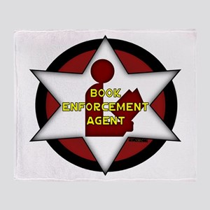 Book Enforcement Agent Throw Blanket