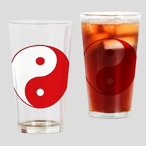 Yin & Yang (Red/White) Drinking Glass